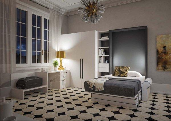 Letti a scomparsa e mobili letto metroquadro vendita online for Letti chiudibili a parete