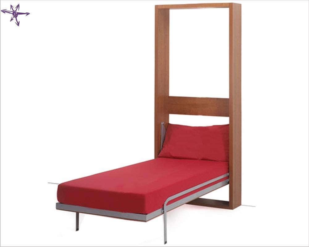 Armadio letto verticale singolo Flat