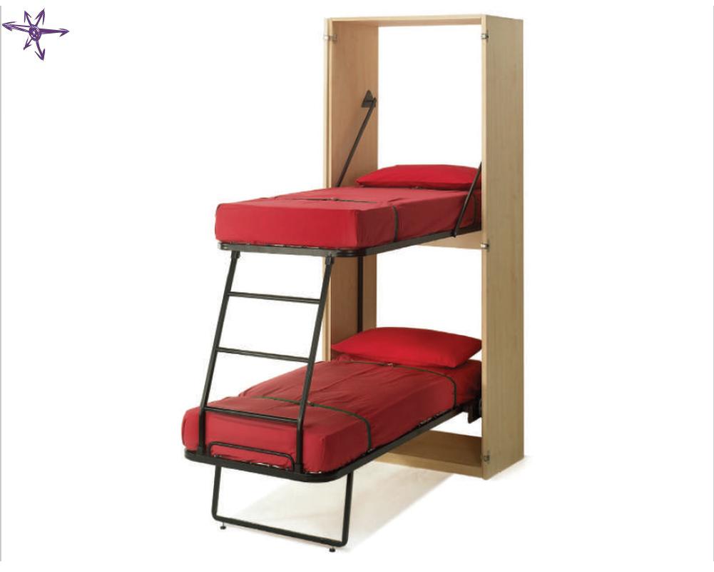 Castello ribaltabile con due letti a scomparsa verticale for Ikea letto ribaltabile