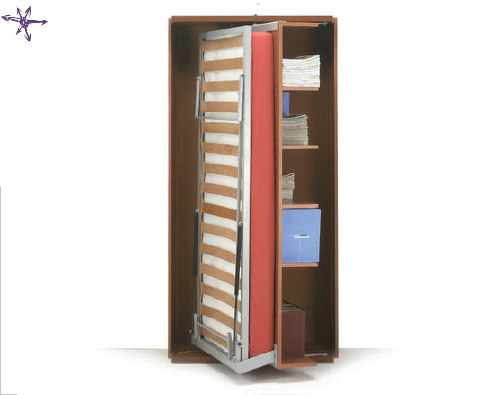 Girevole singolo a scomparsa verticale con libreria integrata