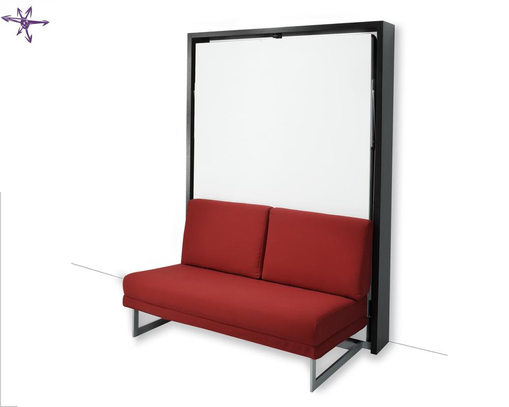 Letto ribaltabile con divano modello houdini - Letto ad armadio a scomparsa ...