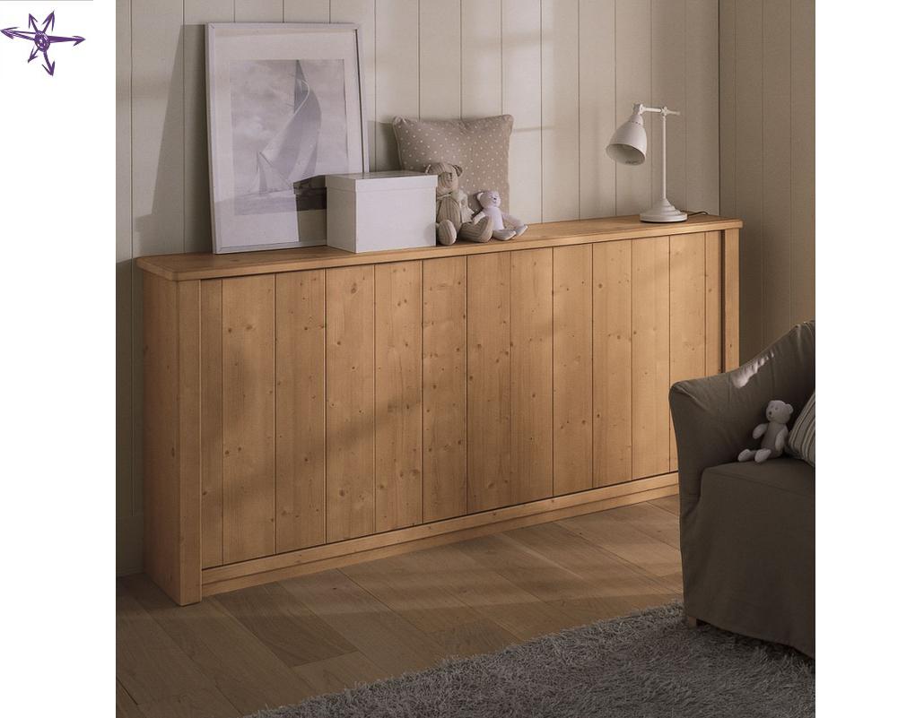 Scandola mobili letti classici a scomparsa in vero legno for Camerette in legno massello