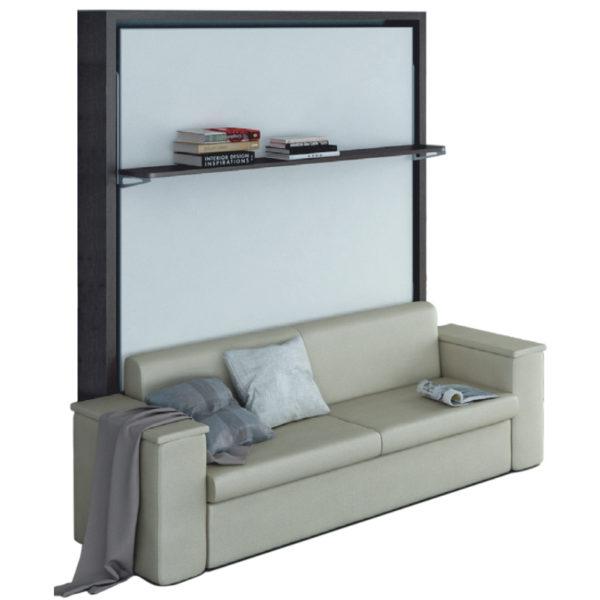 Letto ribaltabile misura francese con divano modello dile - Divano letto a scomparsa prezzo ...