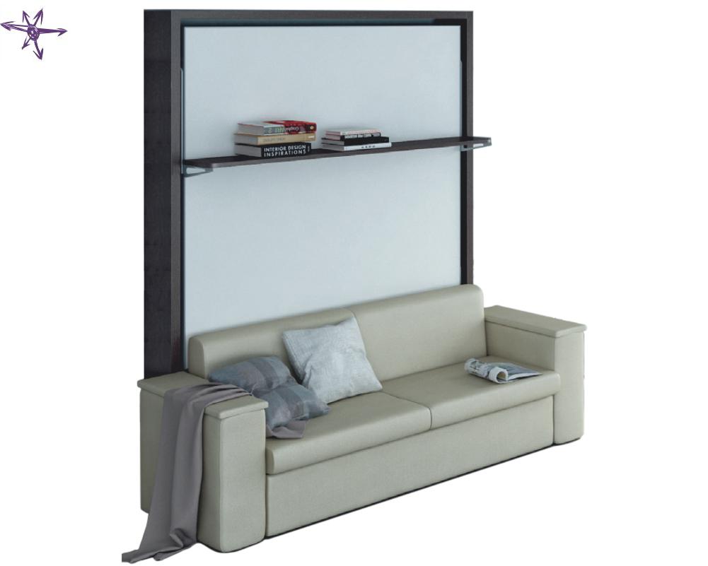 Letto ribaltabile misura francese con divano modello dile for Letti vendita on line