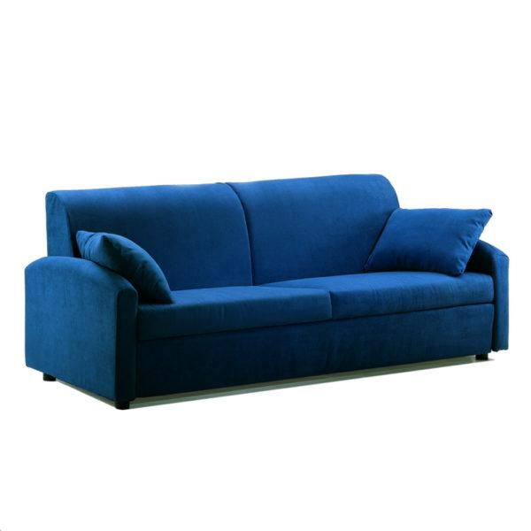 Divano letto opl con ribalta trasformabile in letto singolo - Divano letto azzurro ...