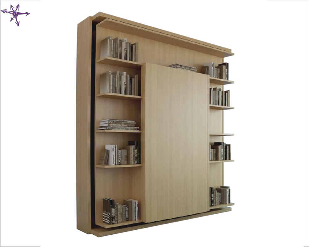 Libreria Letto Matrimoniale : Letto matrimoniale girevole con tavolino a ribalta verticale