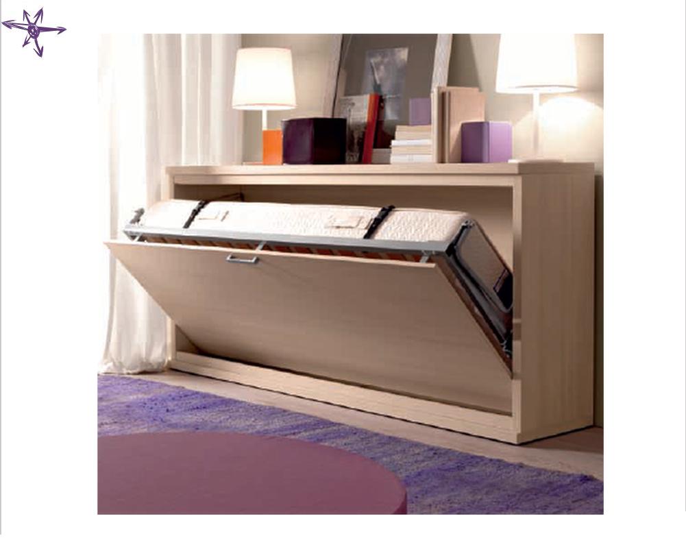 Mobile letto a castello trasformabile modello vagone letto for Letto ribaltabile ikea