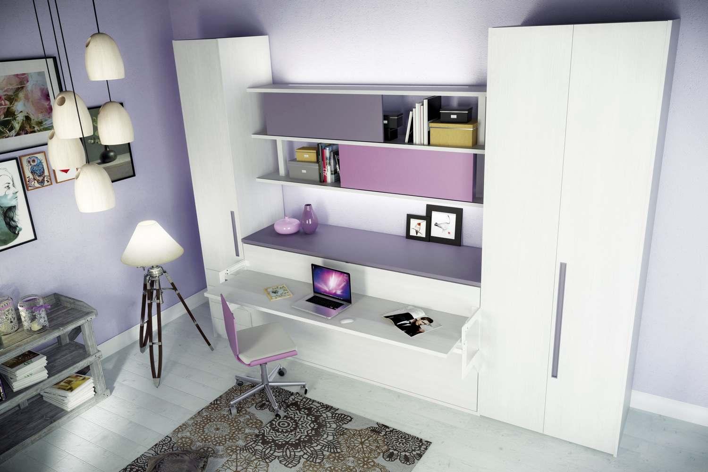 Letto e scrivania a scomparsa oe25 regardsdefemmes - Scrivania camera da letto ...