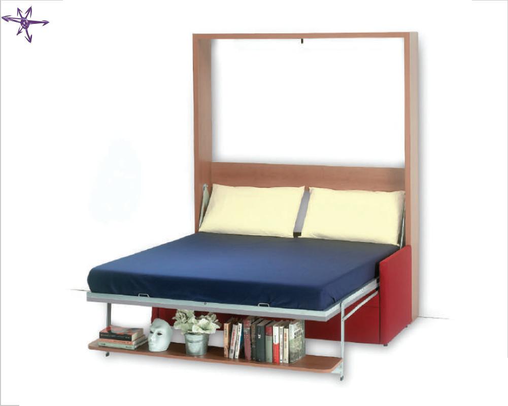 Letto con divano verticale