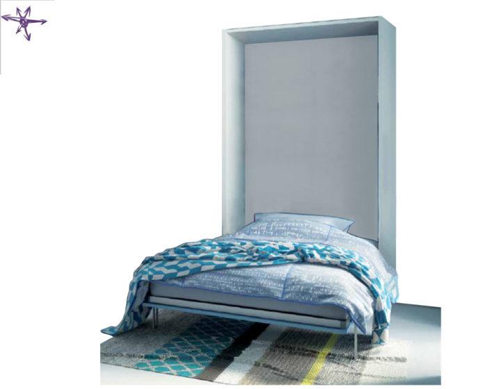 Letto piazza e mezza ribaltabile in verticale modello andres for Ikea letto ribaltabile