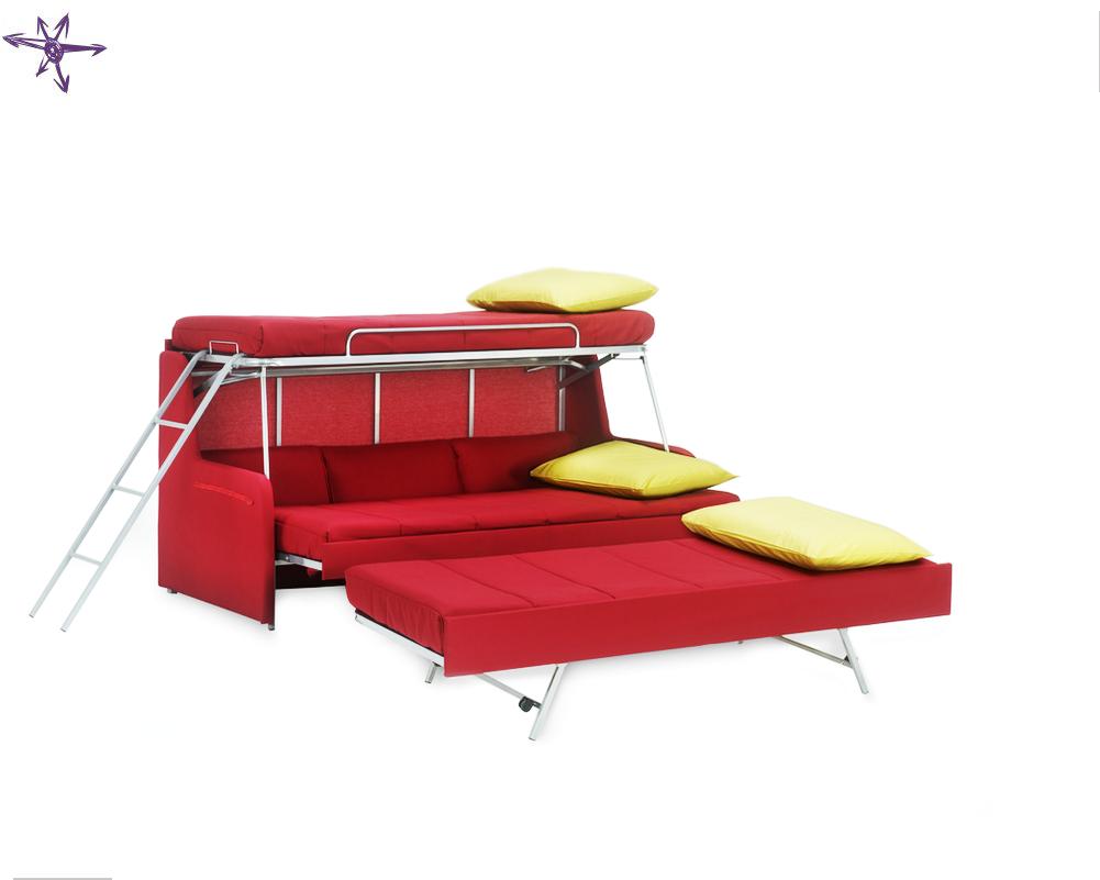 Mr hide trasformabile divano letto a castello a tre letti - Divano letto a castello prezzo ...
